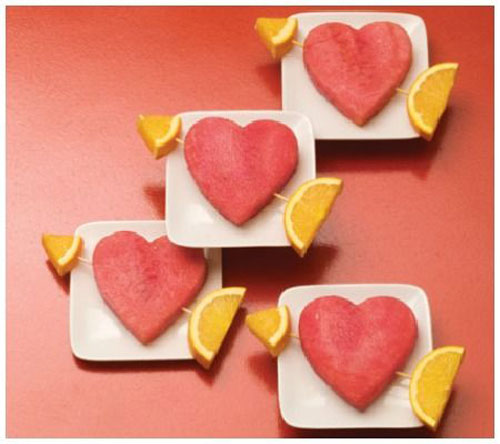 30+ Healthy Valentine's Day Food Ideas - Watermelon Hearts