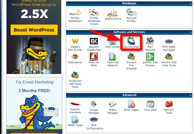 Wordpress-3a-Quick-Install