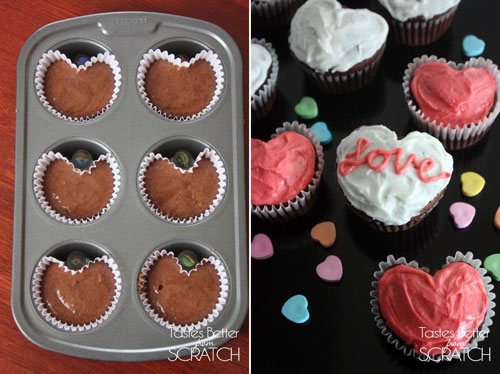 35+ Valentine's Day Cupcake Ideas - Heart Cupcakes