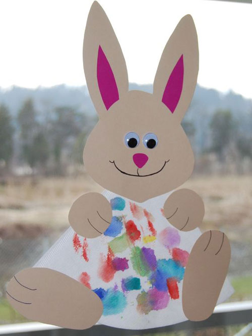 40+ Simple Easter Crafts for Kids - Coffee Filter Easter Bunny