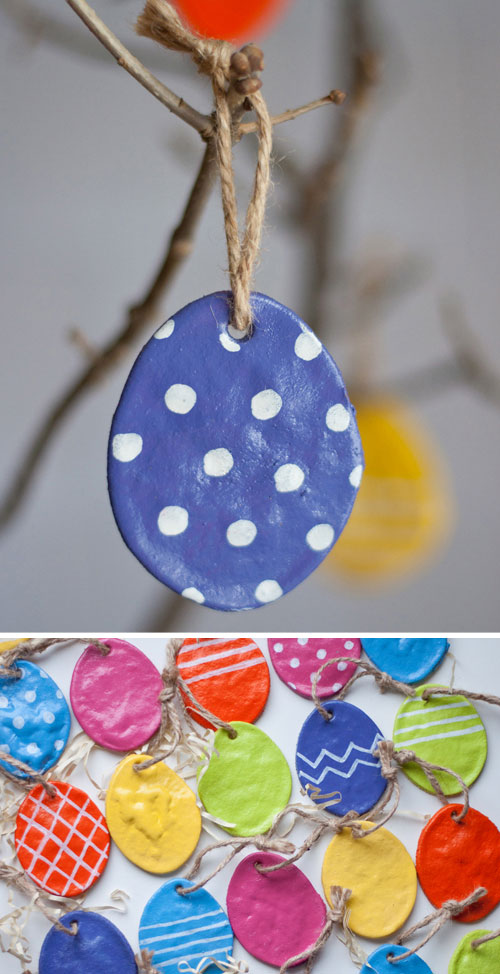 40+ Simple Easter Crafts for Kids - DIY Salt Dough Eggs
