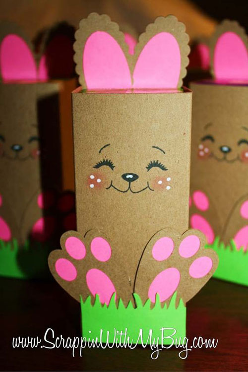 40+ Simple Easter Crafts for Kids - Easter Bunny Boxes
