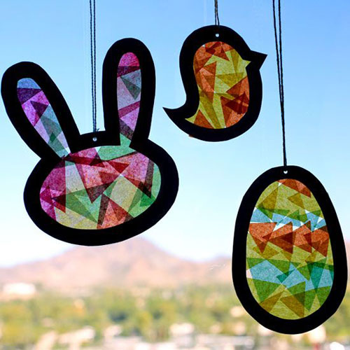 40+ Simple Easter Crafts for Kids - Easter Suncatcher Template