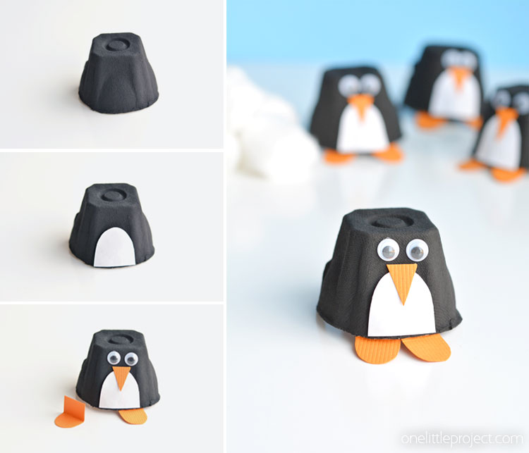 Egg Carton Crafts Part - 48: These Egg Carton Penguins Are Such A Fun Winter Craft To Make With The Kids!