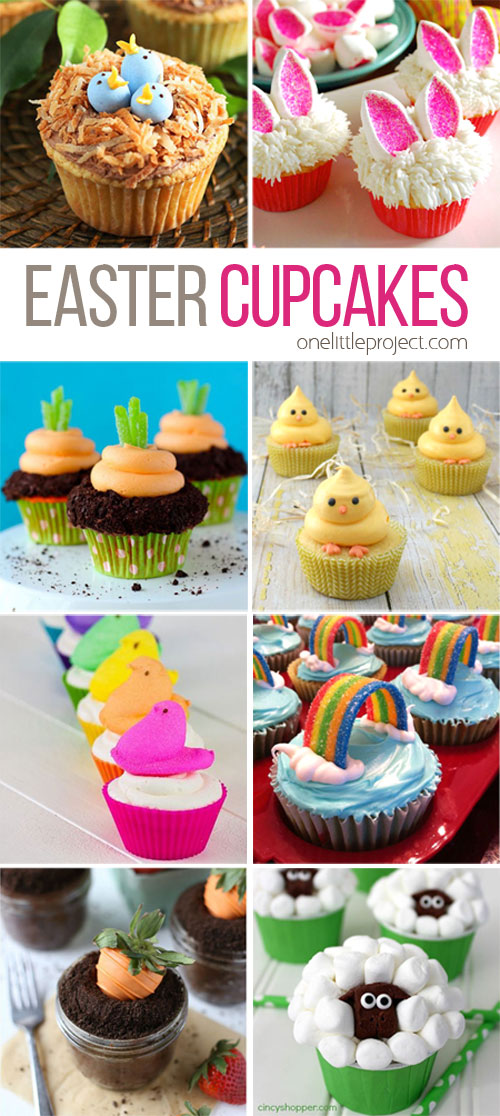 35 adorable easter cupcake ideas for Cute cupcake decorating ideas for easter