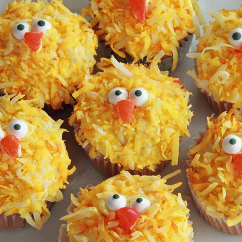 35 Adorable Easter Cupcake Ideas - Chick Cupcakes