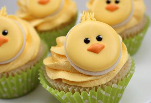 35 Adorable Easter Cupcake Ideas - Cute Little Chick Cupcakes