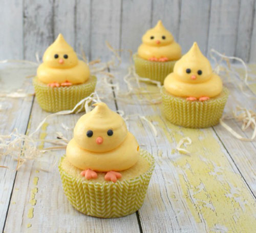 35 Adorable Easter Cupcake Ideas - Easy Chick Cupcake