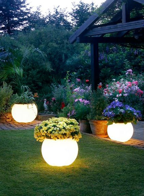 20 Best DIY Garden Crafts - DIY Glow In The Dark Planters