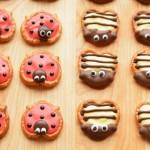 Pretzel Ladybugs and Bumblebees