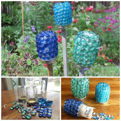 20 Best DIY Garden Crafts - Garden Treasure Jars
