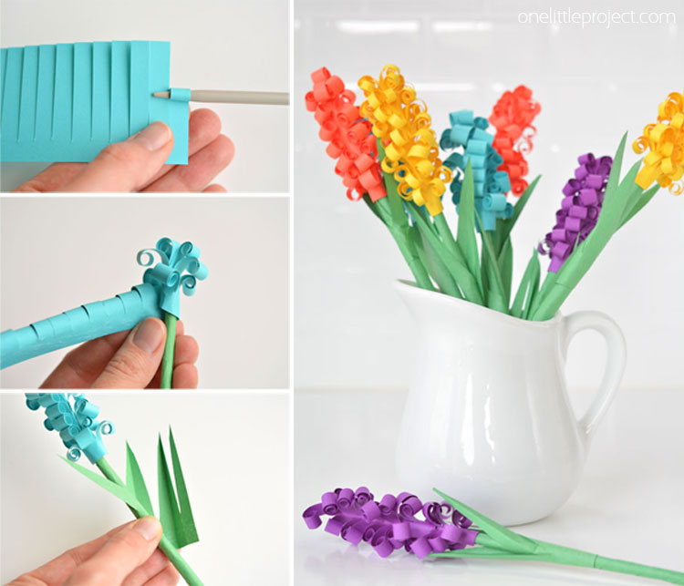 How to make paper hyacinth flowers for How to make craft