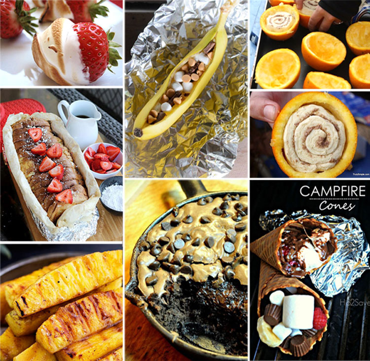These recipes for campfire desserts are seriously making me drool. I had no idea you could cook SO MANY DIFFERENT DESSERTS over a campfire! Yum!