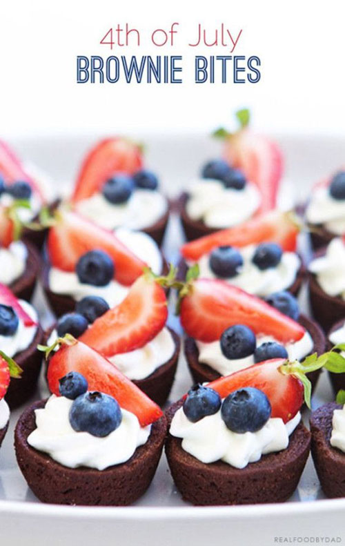 50+ Best 4th of July Desserts - 4th of July Brownie Bites