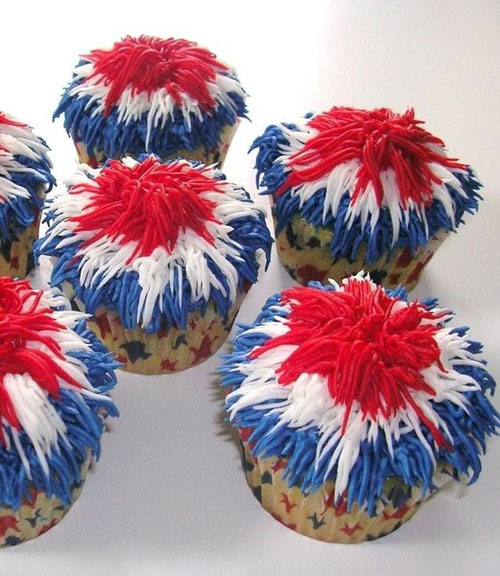 50+ Best 4th of July Desserts - 4th of July Firecracker Cupcakes