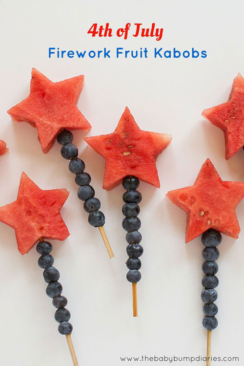 50+ Best 4th of July Desserts - 4th of July Fruit Kabob