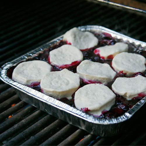 30+ Best Campfire Desserts - Blueberry Cobbler on the Grill
