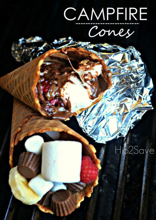 30+ Best Campfire Desserts - Campfire Cones