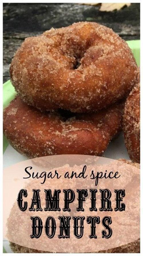 30+ Best Campfire Desserts - Campfire Donuts