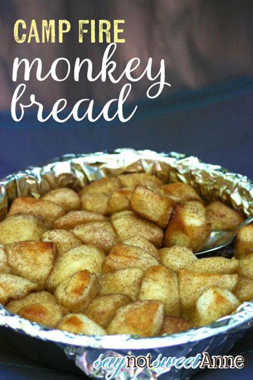 30+ Best Campfire Desserts - Campfire Monkey Bread