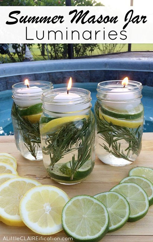37 Awesome DIY Summer Projects - DIY Mason Jar Bug Repellant