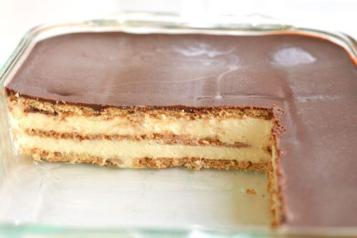 No Bake Chocolate Eclair Cake One Little Project