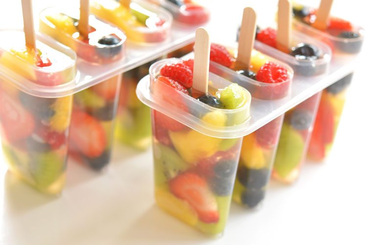 Fresh Fruit Popsicles Fruit Salad Ice Pops