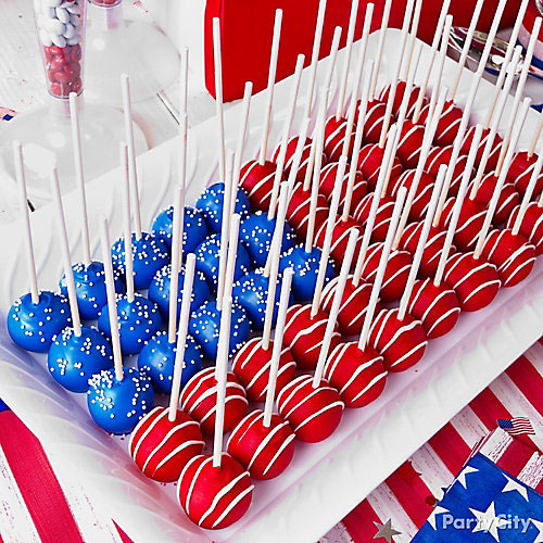 50+ Best 4th of July Desserts - Flag Cake Pops