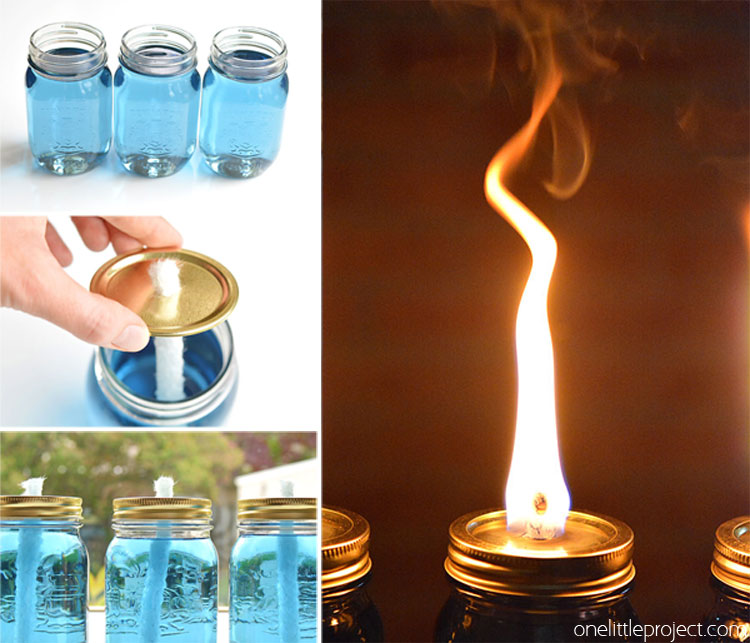 These Mason Jar Citronella Candles Are REALLY EASY And They Really Keep The  Bugs Away!