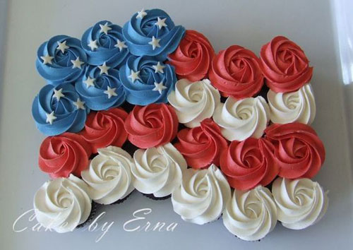 50+ Best 4th of July Desserts - Patriotic Cupcakes
