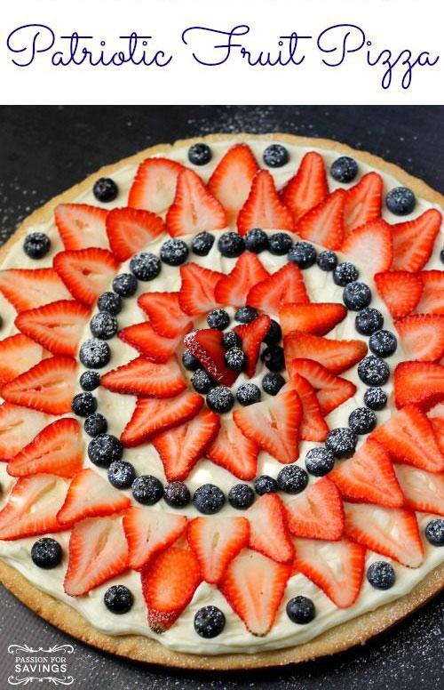 50+ Best 4th of July Desserts - Patriotic Fruit Pizza