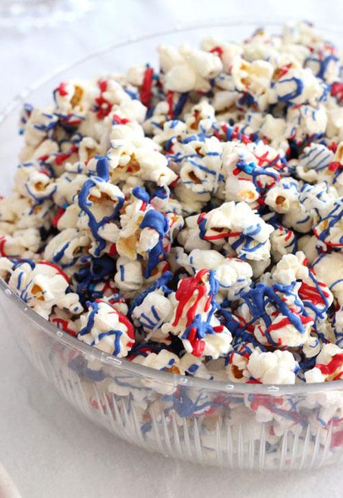 50+ Best 4th of July Desserts - Patriotic Popcorn Recipe