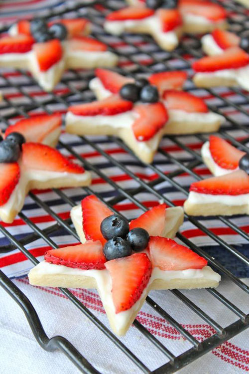 50+ Best 4th of July Desserts - Patriotic Star Cookies