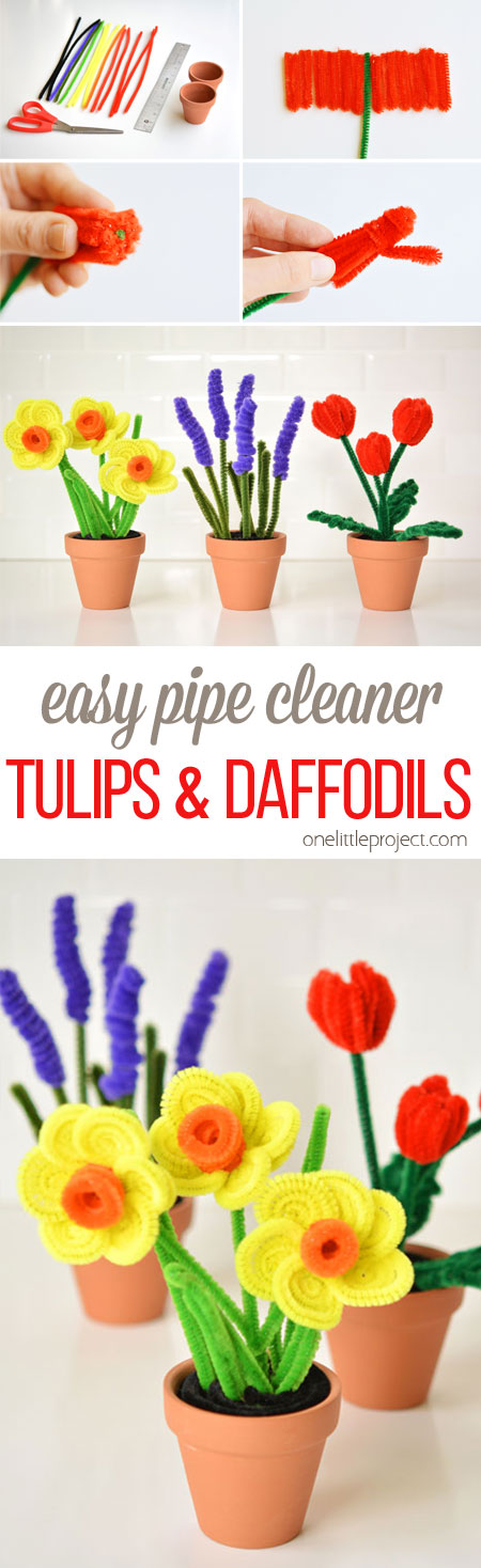 Easy pipe cleaner daffodils and tulips these pipe cleaner daffodils and tulips have to be the prettiest pipe cleaner craft i mightylinksfo Choice Image