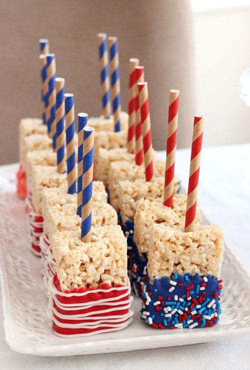 50+ Best 4th of July Desserts - Pop Rock Rice Krispies