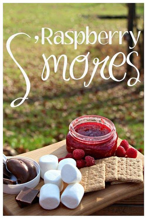 30+ Best Campfire Desserts - Raspberry S'mores
