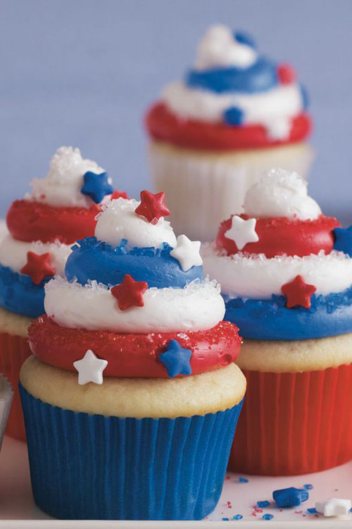 50+ Best 4th of July Desserts - Red, White and Blue Cupcakes