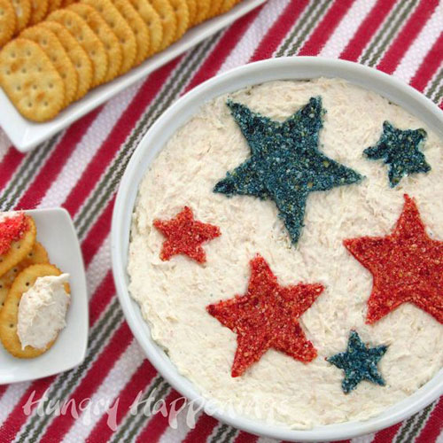 50+ Best 4th of July Desserts - Red and Blue Cracker Crumb Stars