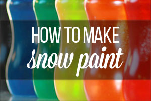 how to make your own snow paint | onelittleproject.com