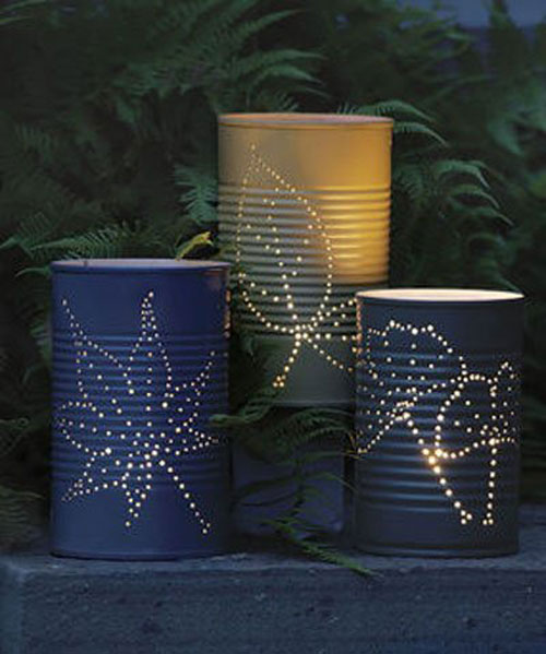 37 Awesome DIY Summer Projects - Tin Can Luminaries