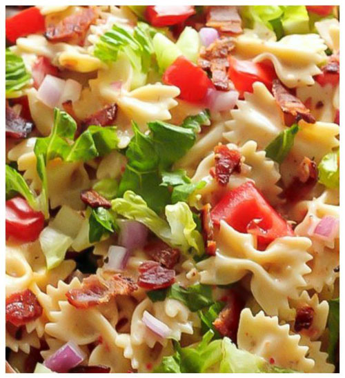 40 Best Pasta Salad Recipes - 20-Minute BLT Pasta Salad