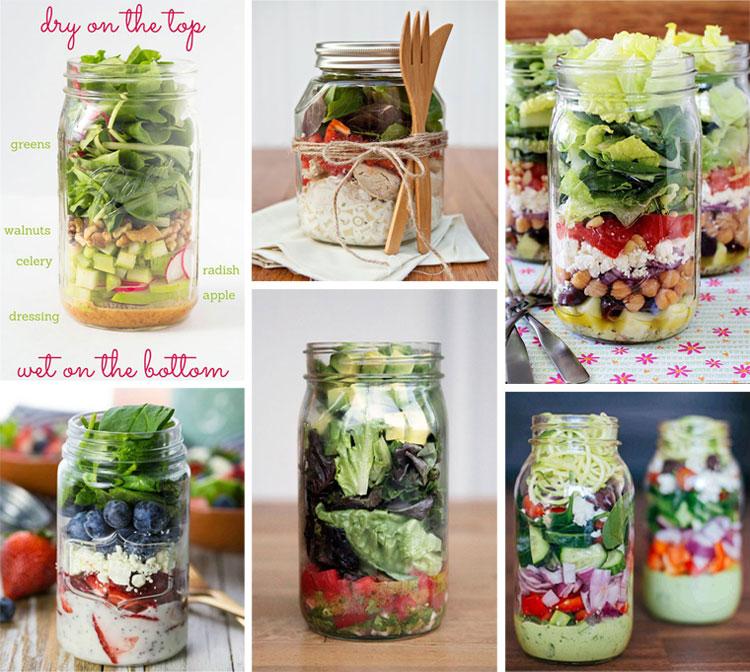 33 Healthy Mason Jar Salads | Salad in a Jar Recipes