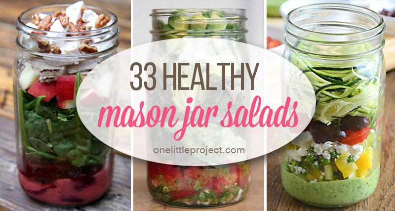 33 Healthy Mason Jar Salads Salad In A Jar Recipes