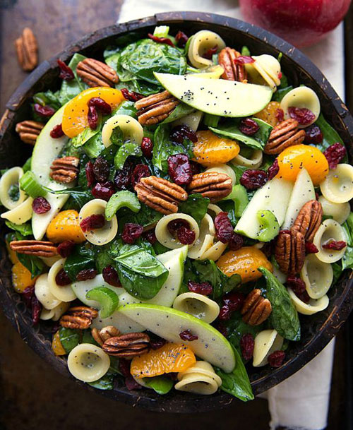 40 Best Pasta Salad Recipes - Autumn Crunch Pasta Salad