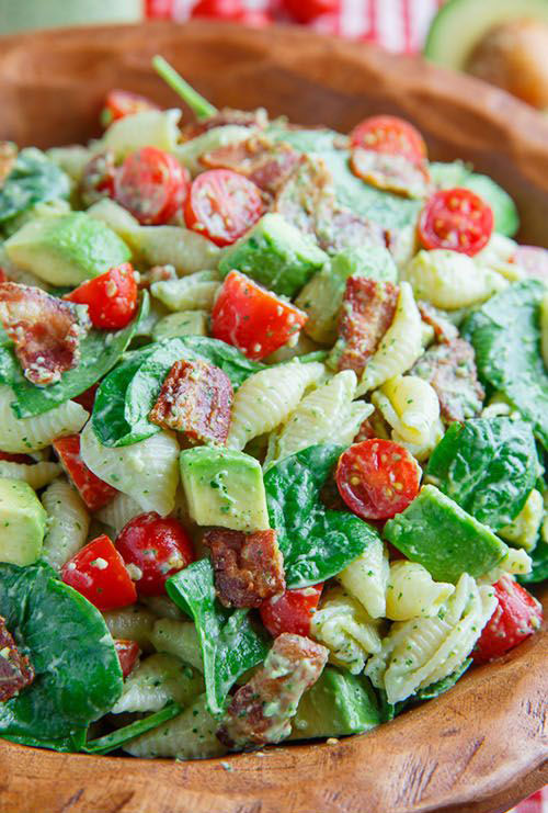 40 Best Pasta Salad Recipes - Avocado BLT Pasta Salad