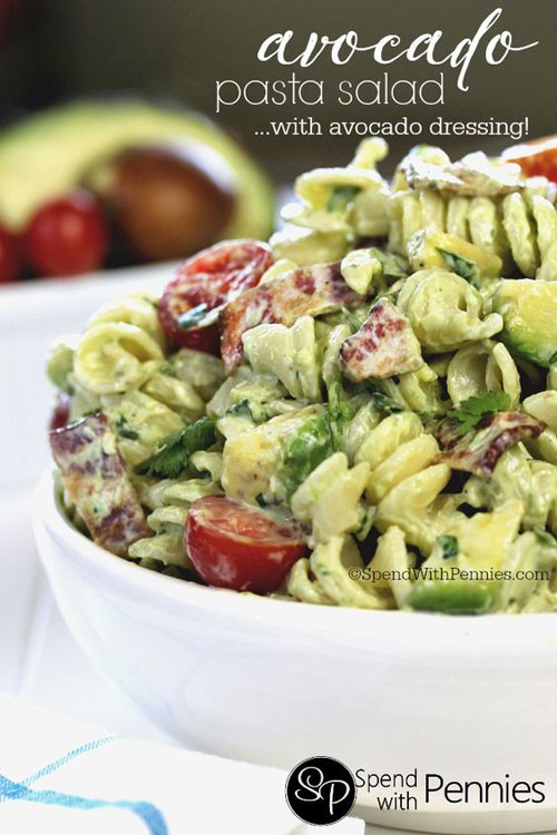 40 Best Pasta Salad Recipes - Avocado Pasta Salad