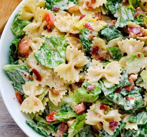 40 Best Pasta Salad Recipes - BLT Pasta Salad