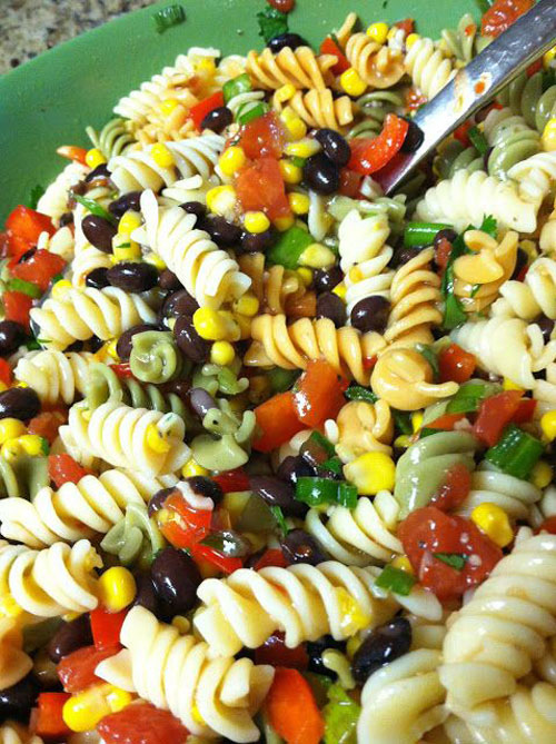 40 Best Pasta Salad Recipes - Black Bean and Corn Pasta Salad