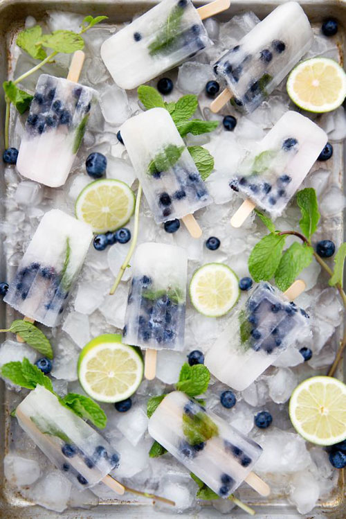 25 Best Homemade Popsicle Recipes - Blueberry Mojito Popsicles