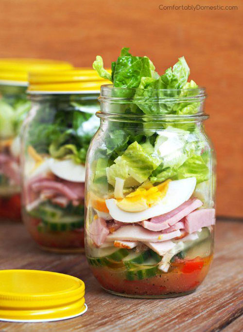 33 Healthy Mason Jar Salads - Chef Salads in a Jar